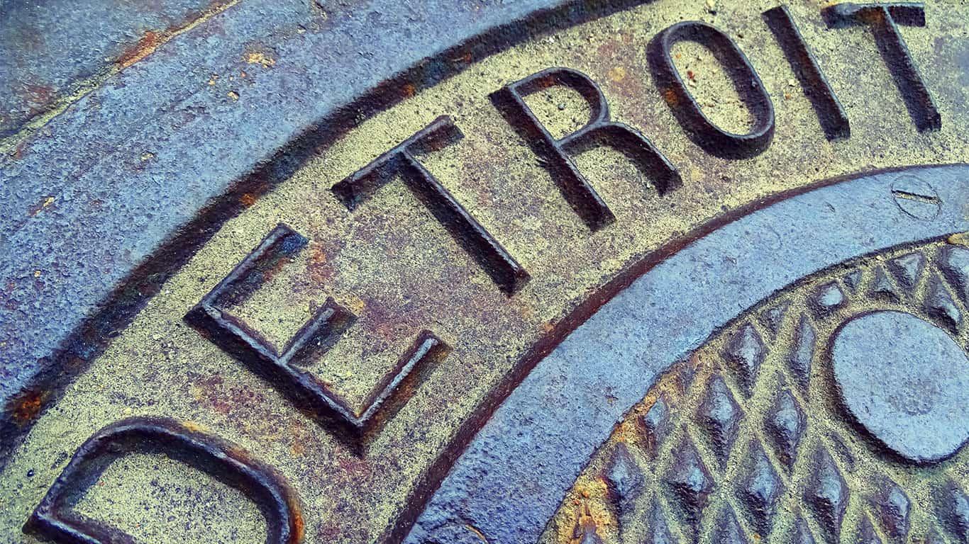 Detroit manhole cover