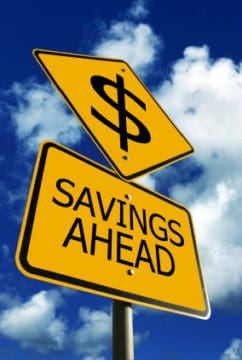 Sign: Savings Ahead