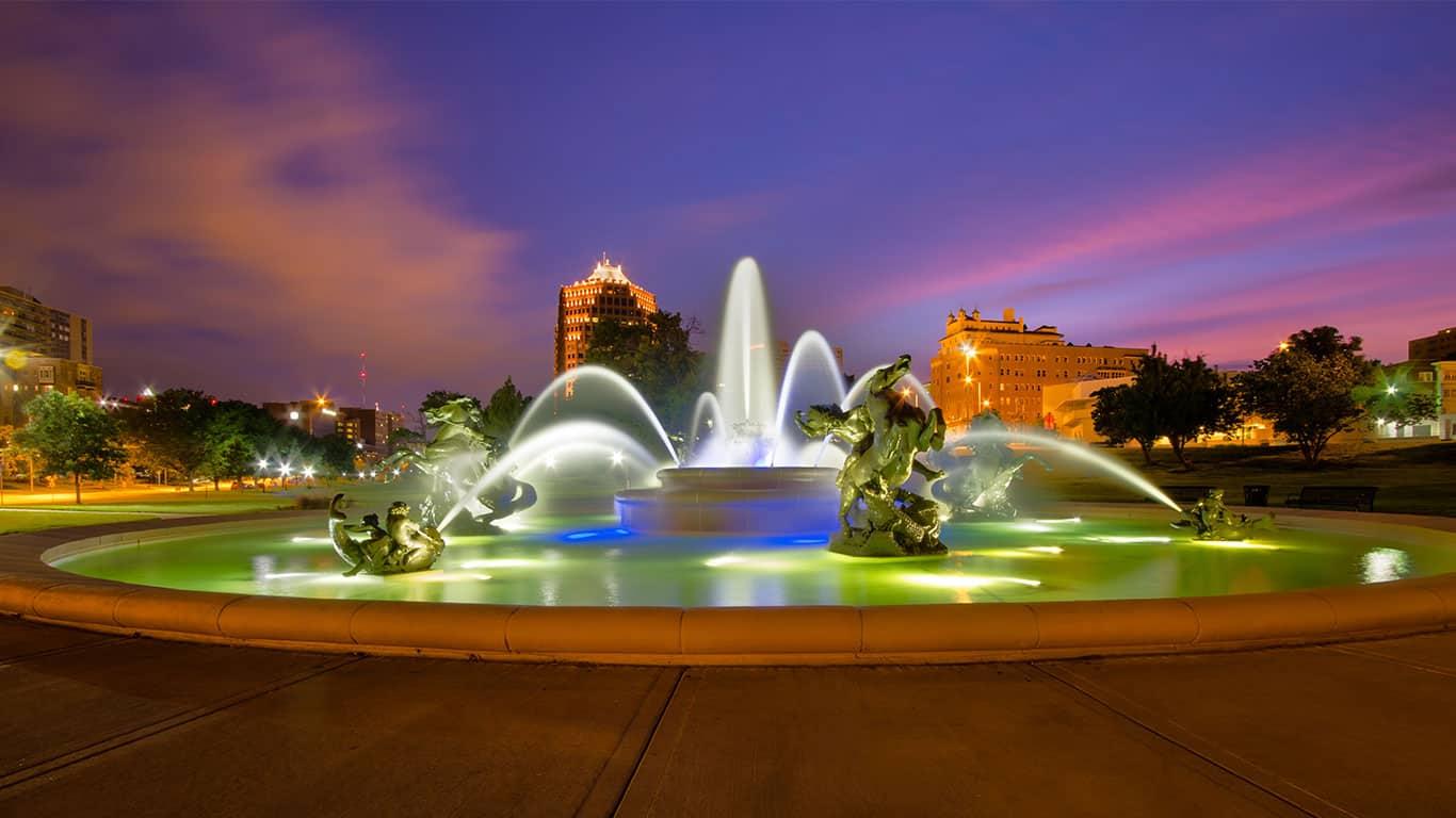 Memorial fountain in Kansas City