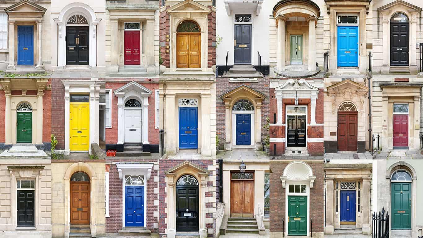 A bunch of doors