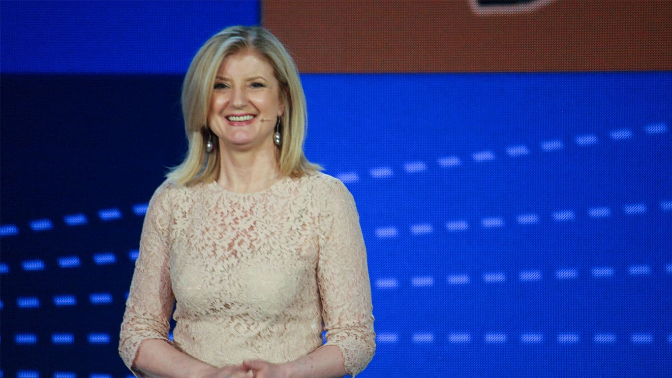 Arianna Huffington makes speech at Microsoft Convergence conference
