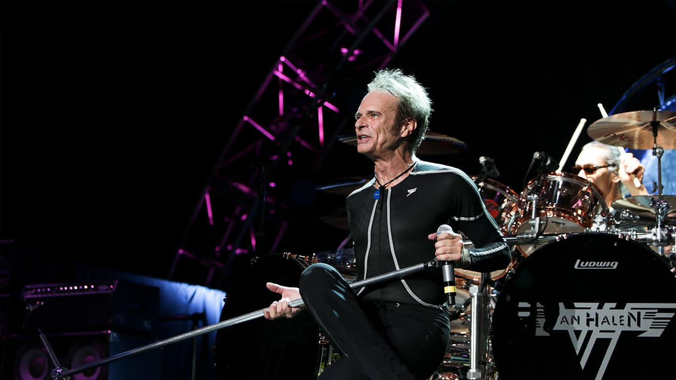David Lee Roth of Van Halen performs onstage at Jones Beach Theater