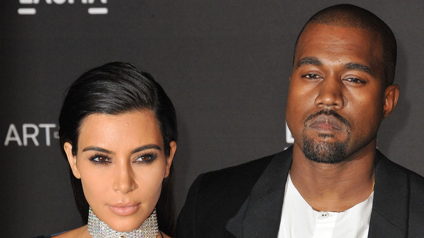 Kanye West with his wife Kim Kardashian at Film Gala at the Los Angeles County Museum of Art