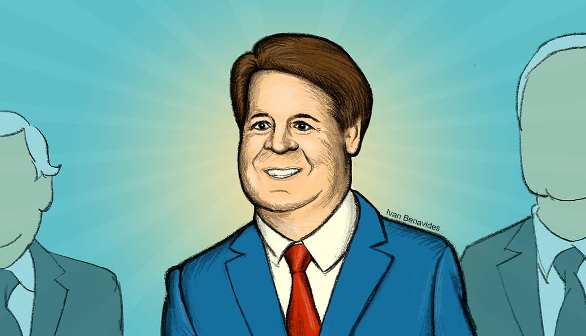 Trump Supreme Court nominee Brett Kavanaugh (illustrated)