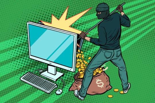 Online hacker steals dollar money from computer in the state most likely to get hacked