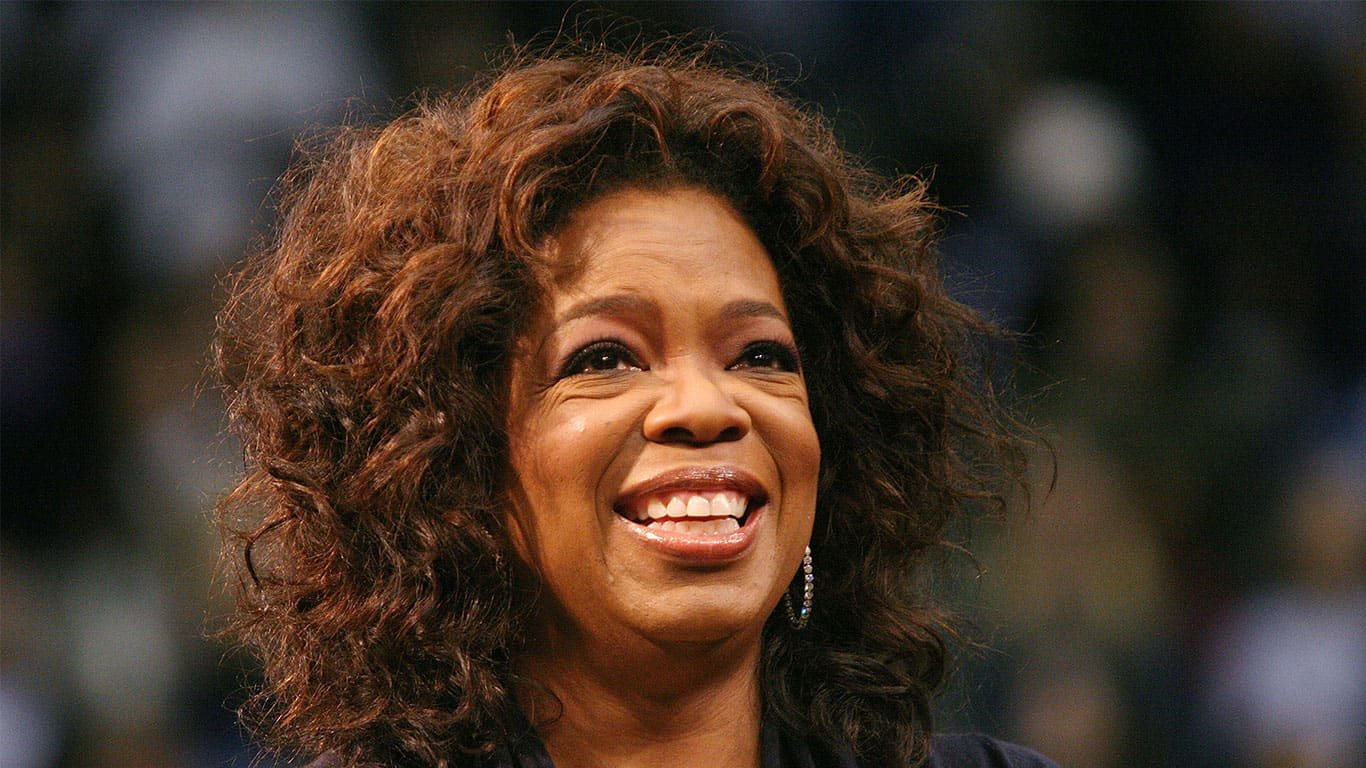 Oprah Winfrey campaigns for Democratic Presidential candidate Barack Obama at UCLA