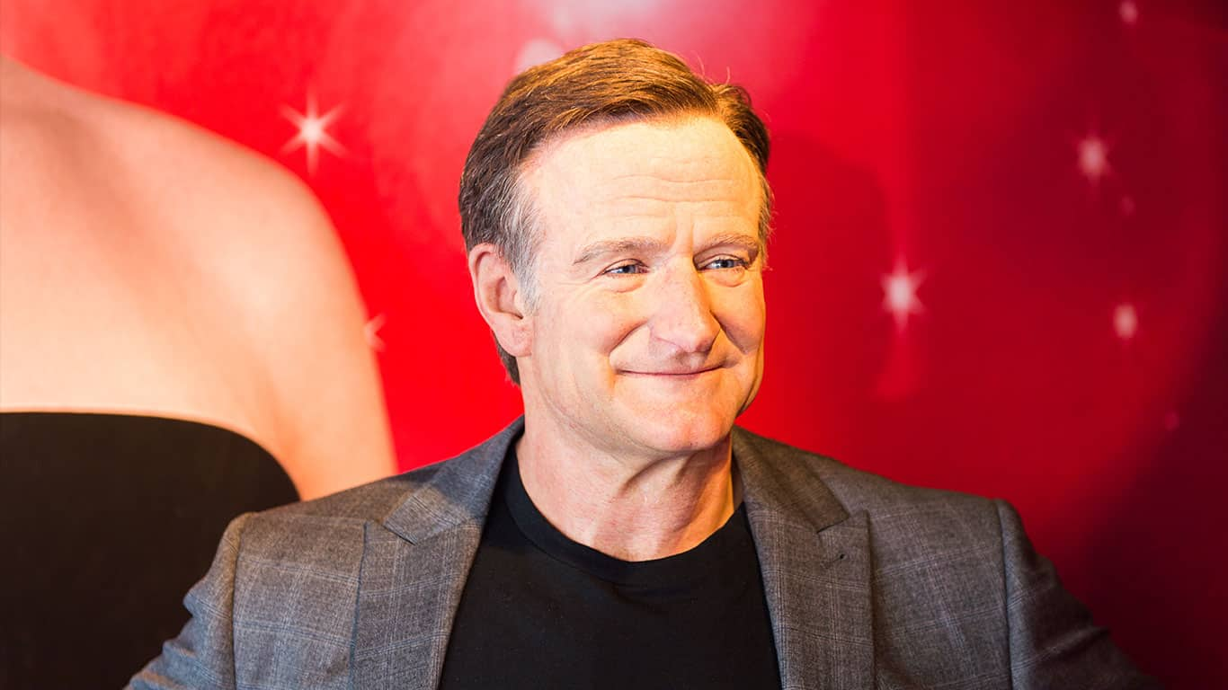 Robin Williams in the Madame Tussauds museum in SF