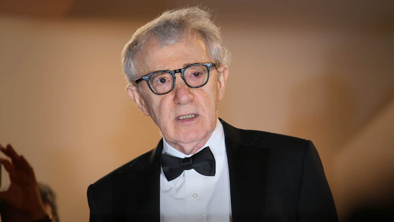 Woody Allen attends the Premiere of 'Irrational Man' during the 68th annual Cannes Film Festival