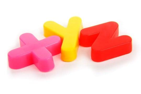 XYZ Colourful lettering