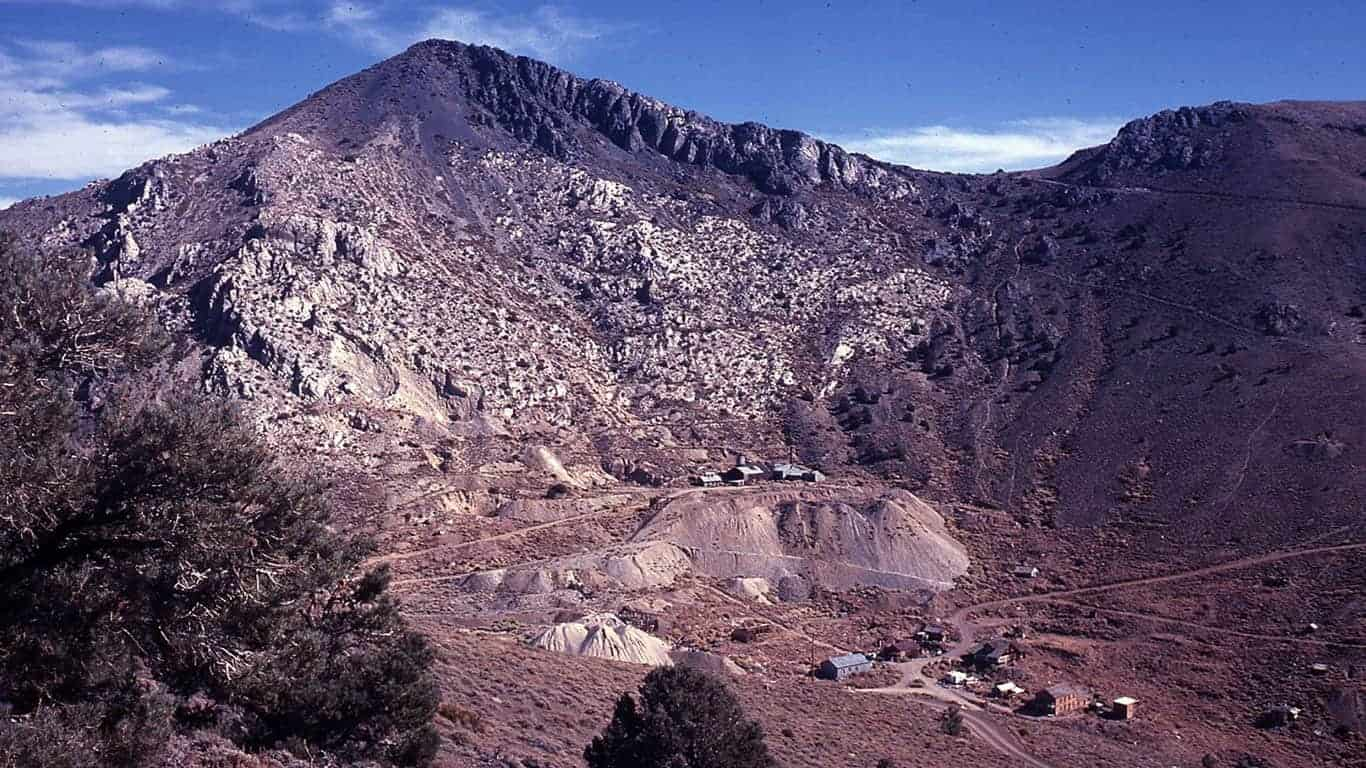 Cerro Gordo Mines and ghost town.