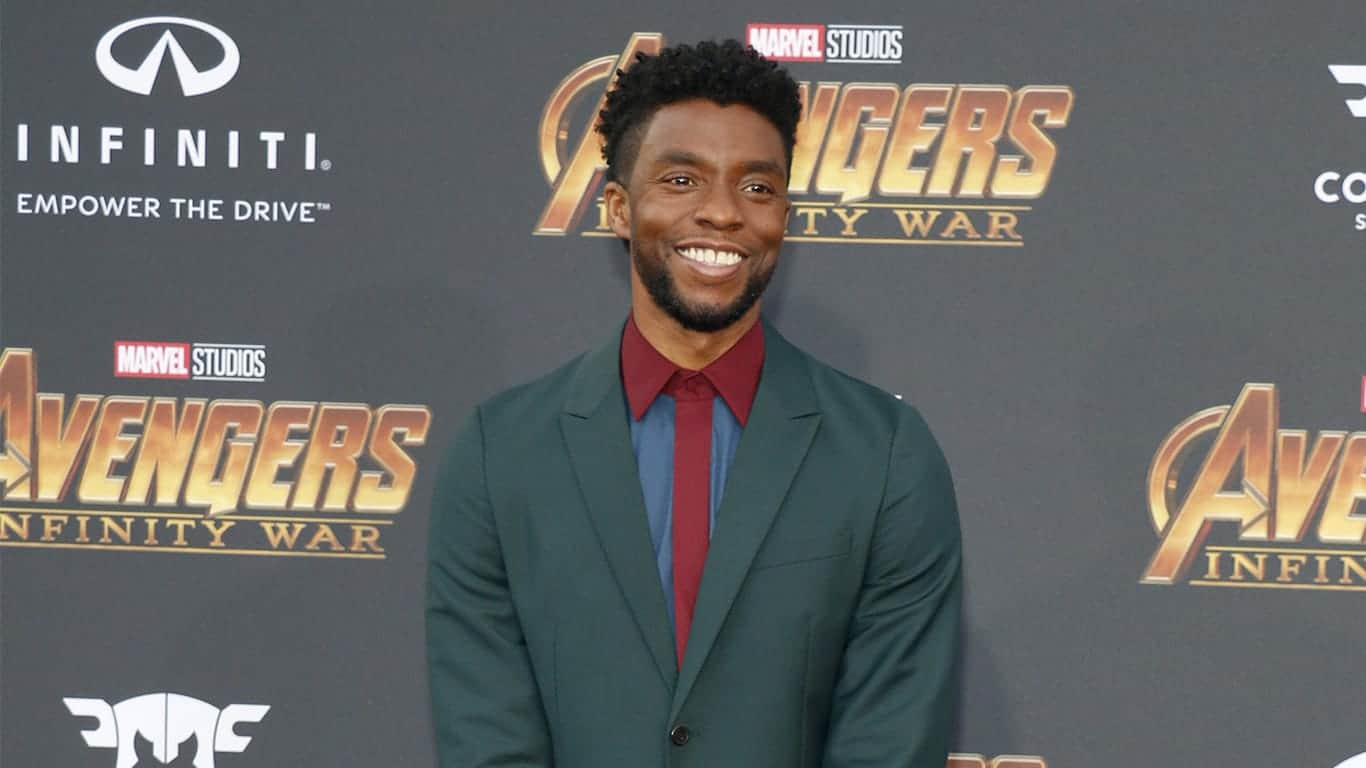 Chadwick Boseman at the premiere of Disney and Marvel's 'Avengers: Infinity War' held at the El Capitan Theatre
