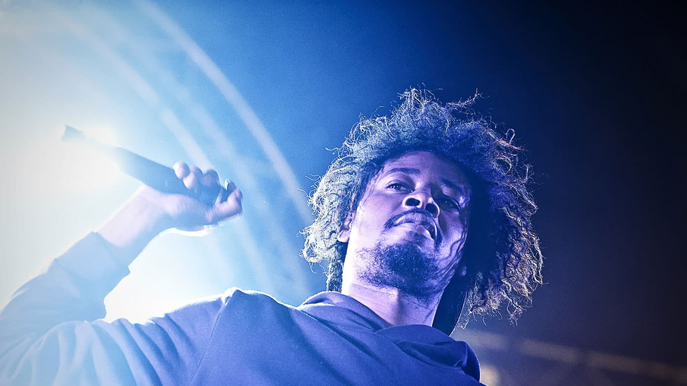 Danny Brown performs at Beacons Festival