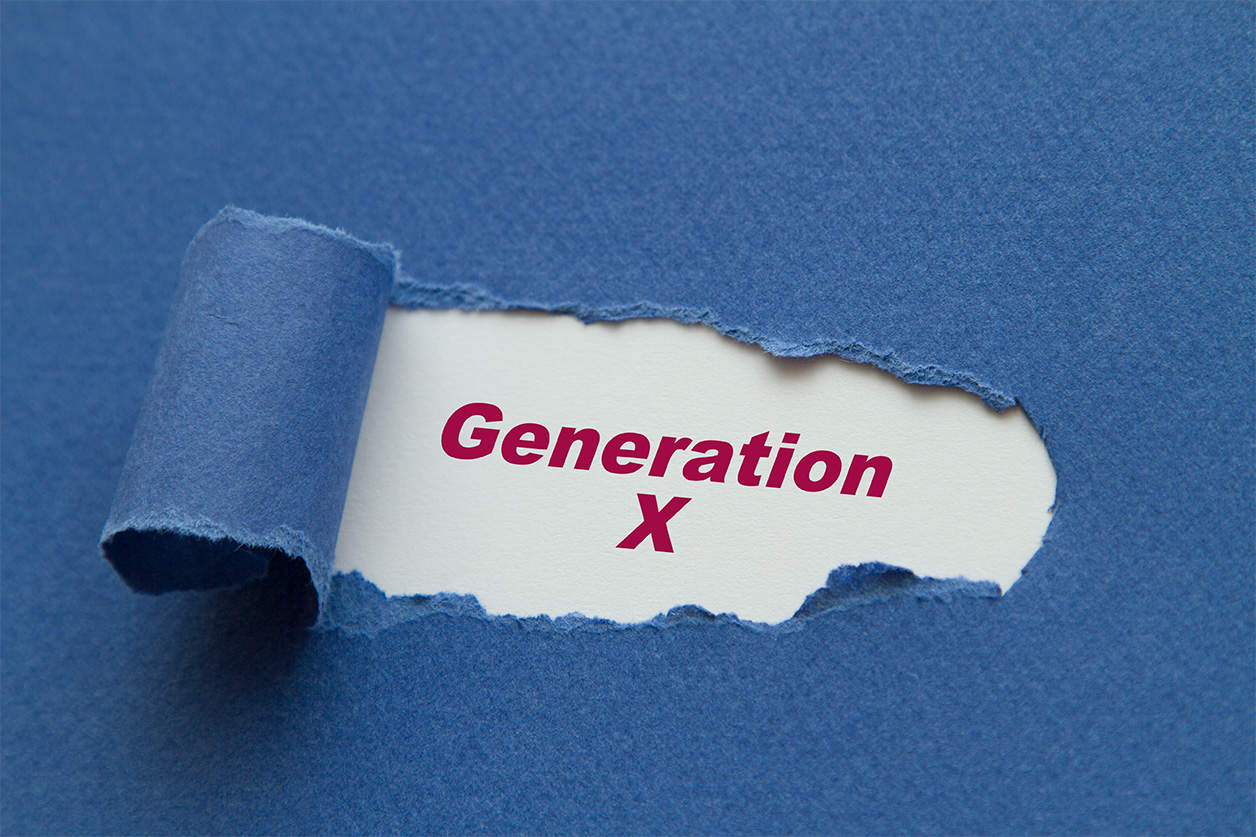 Generation X written under torn paper.