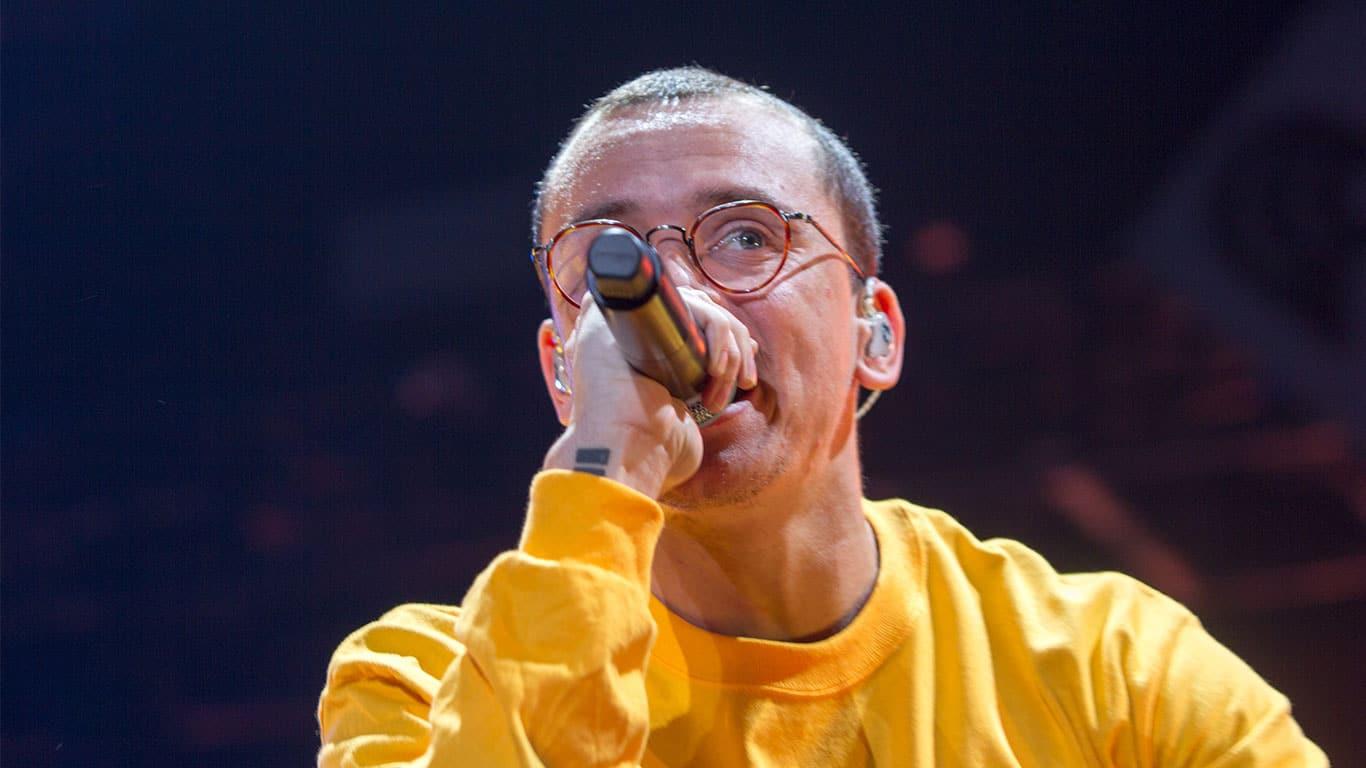 Rapper Logic the Power 96.1 iHeartRadio 2017 Jingle Ball in Atlanta Georgia