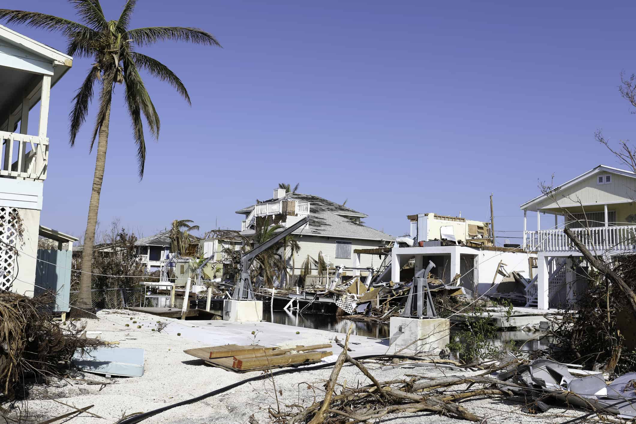 Natural disasters cost the U.S. a record-high last year. Yet many Americans aren't prepared for the next one. Photographed damage from Hurricane Irma in Ramrod Key in the Florida Keys.