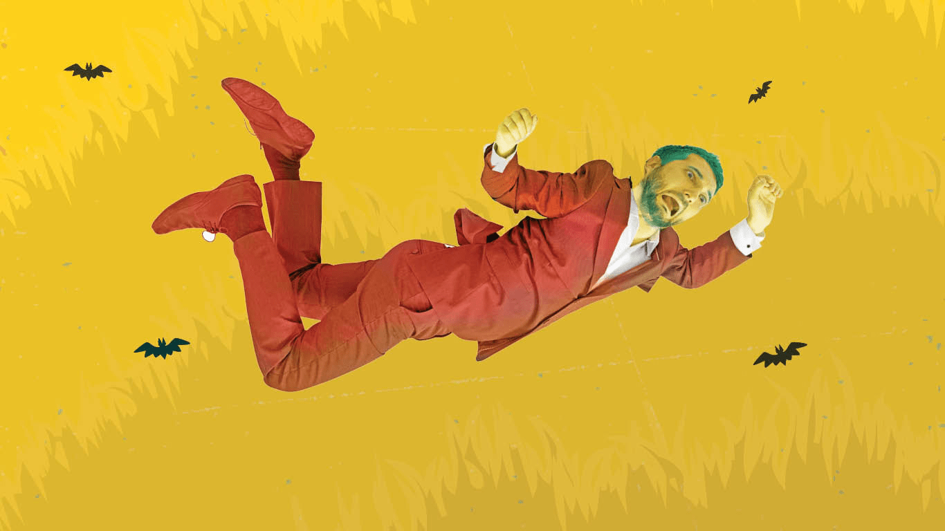 Man falling from the sky.