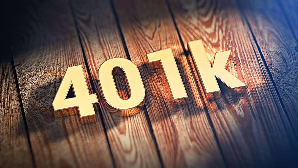 Word 401k on wood planks