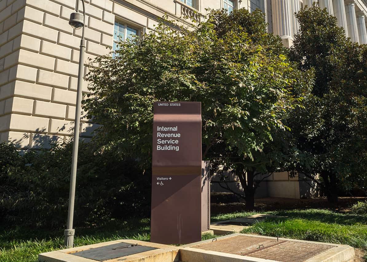 Internal Revenue Service headquarter building in Washington D.C.