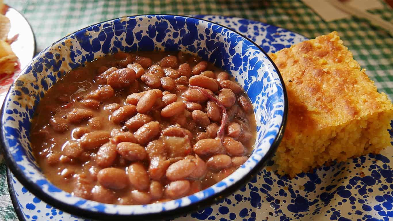 Red beans and corn bread