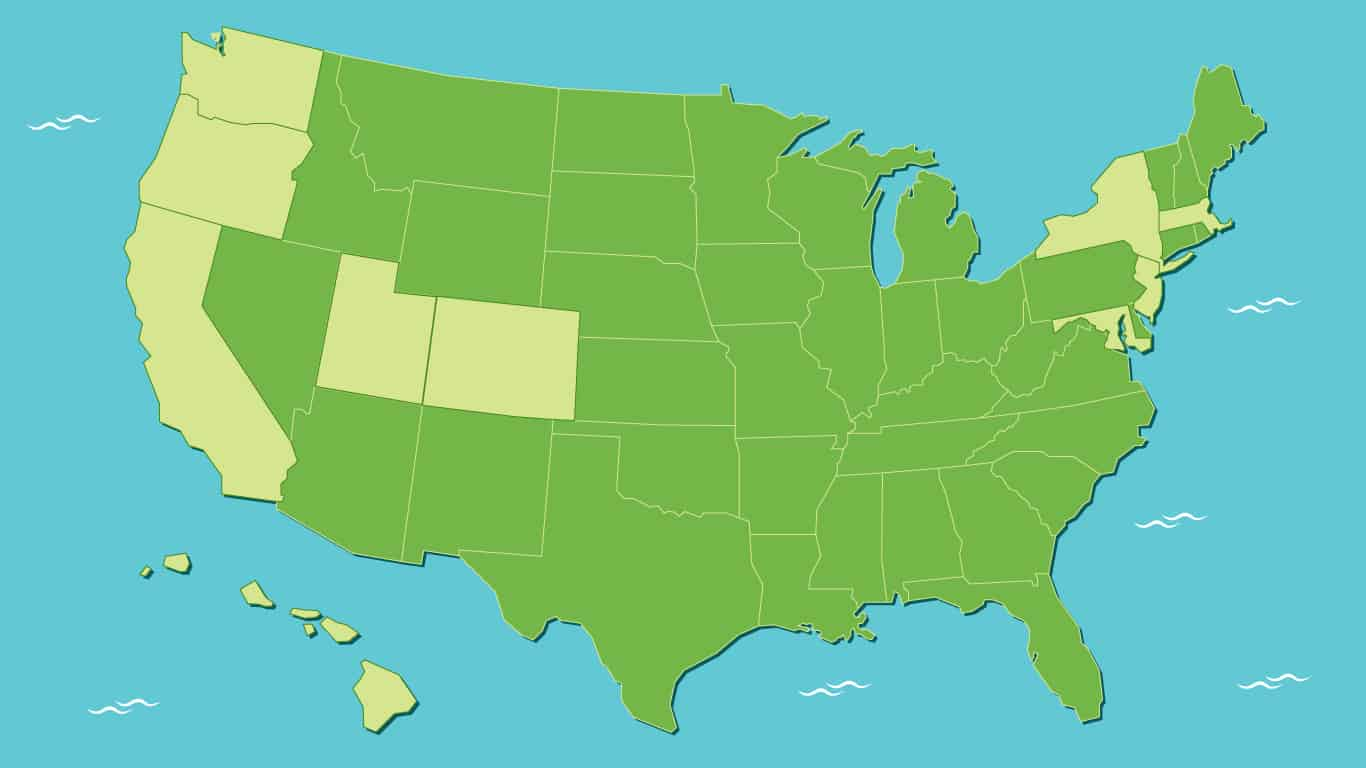 Illustration of the United States of America.