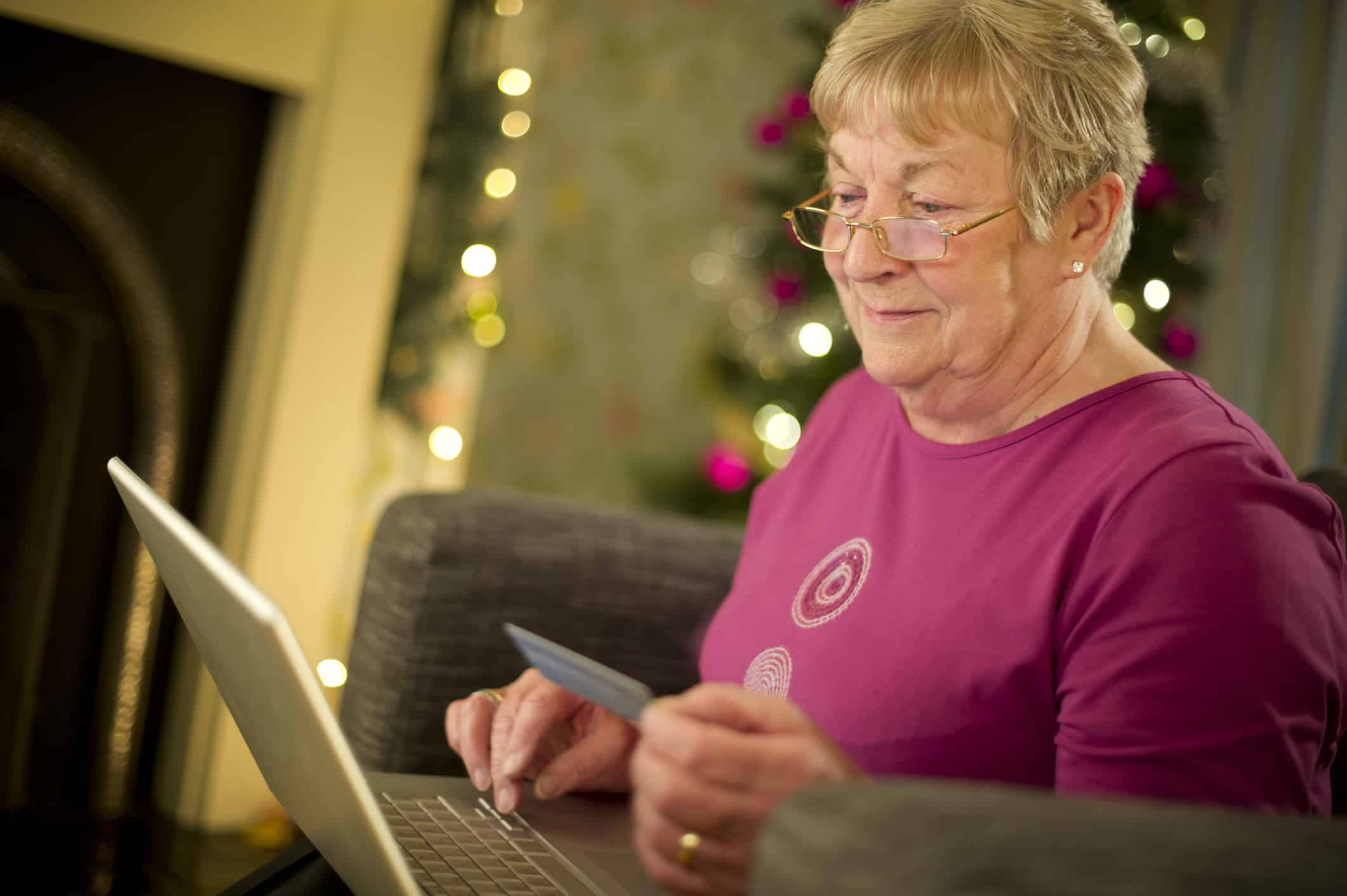 Senior Adult decides To shop online this year.
