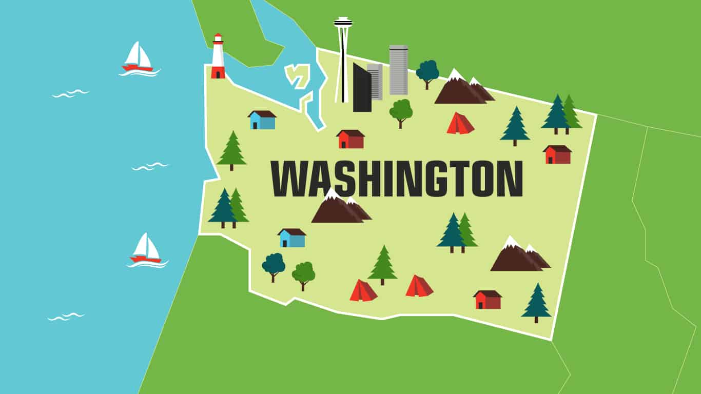 Illustration of Washington.