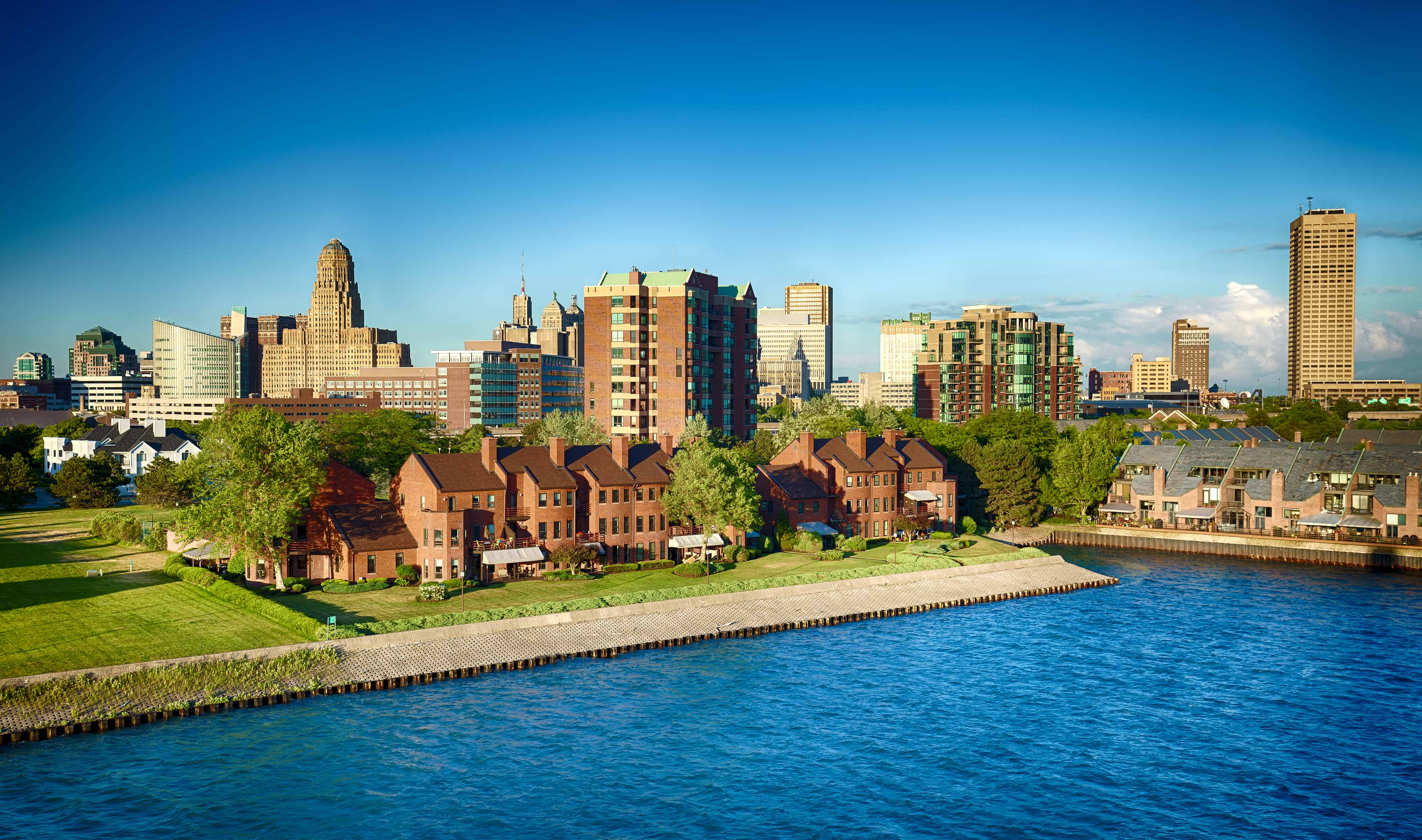 Buffalo, New York from the waterfront.