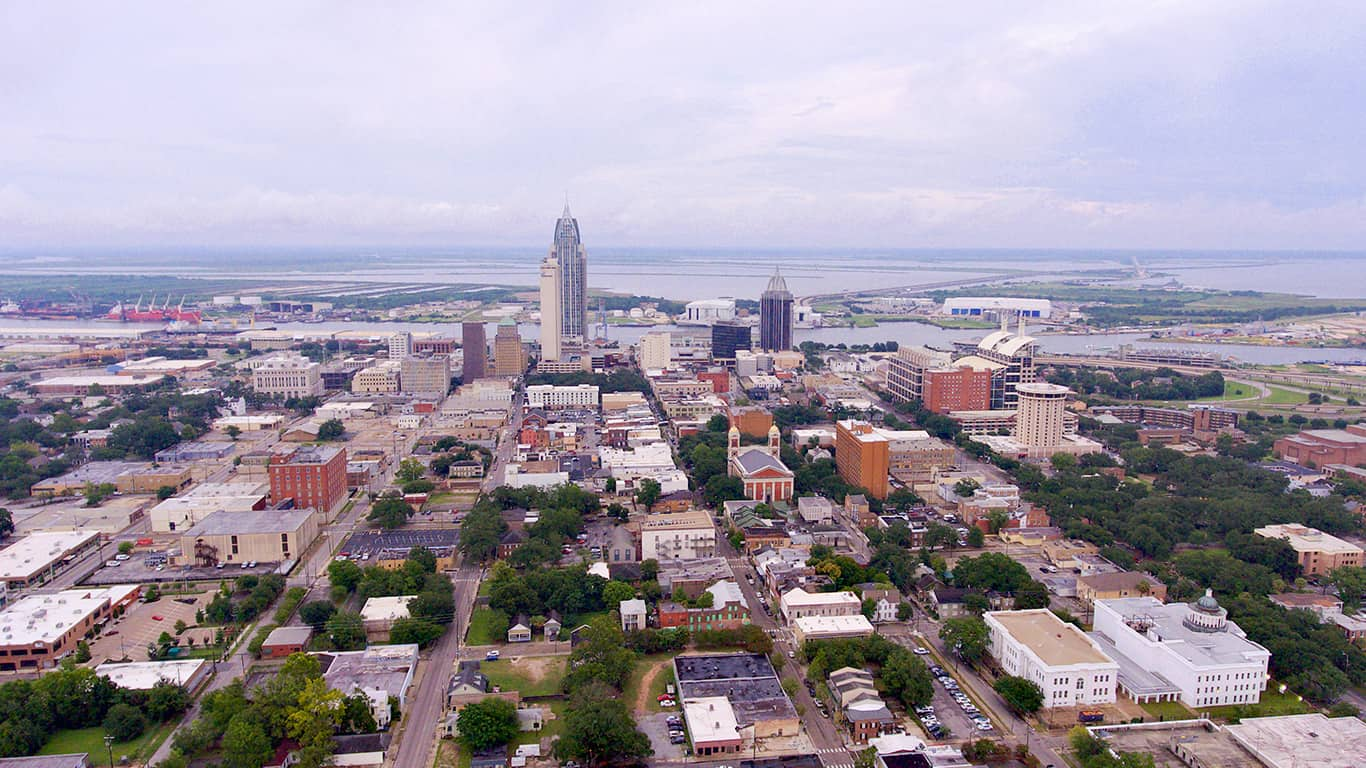 Downtown Mobile, Alabama