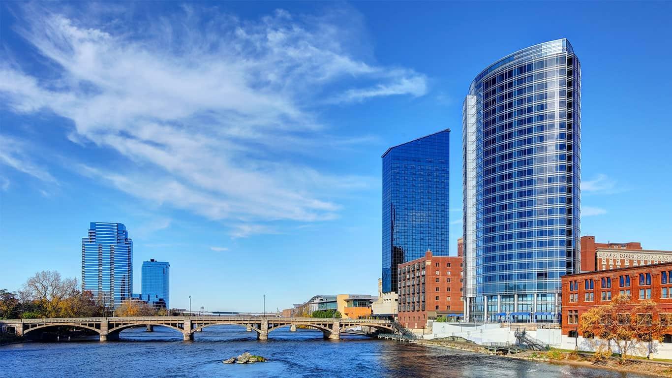 Downtown Grand Rapids Michigan Skyline