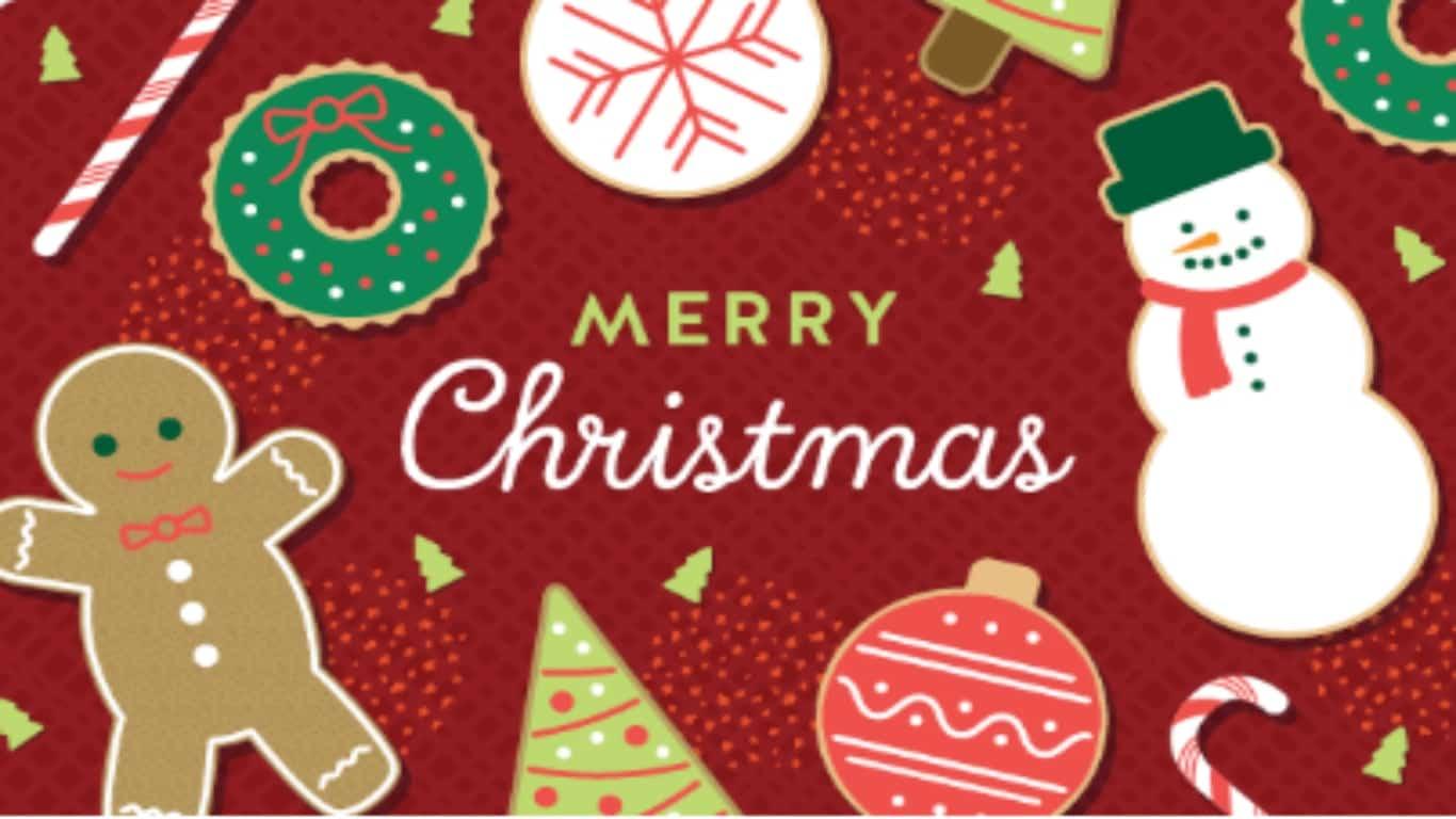 Tarjeta de regalo para Navidad