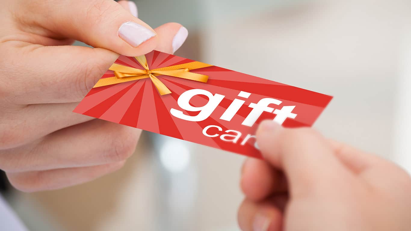 Gift card etiquette says avoid just handing someone a gift card
