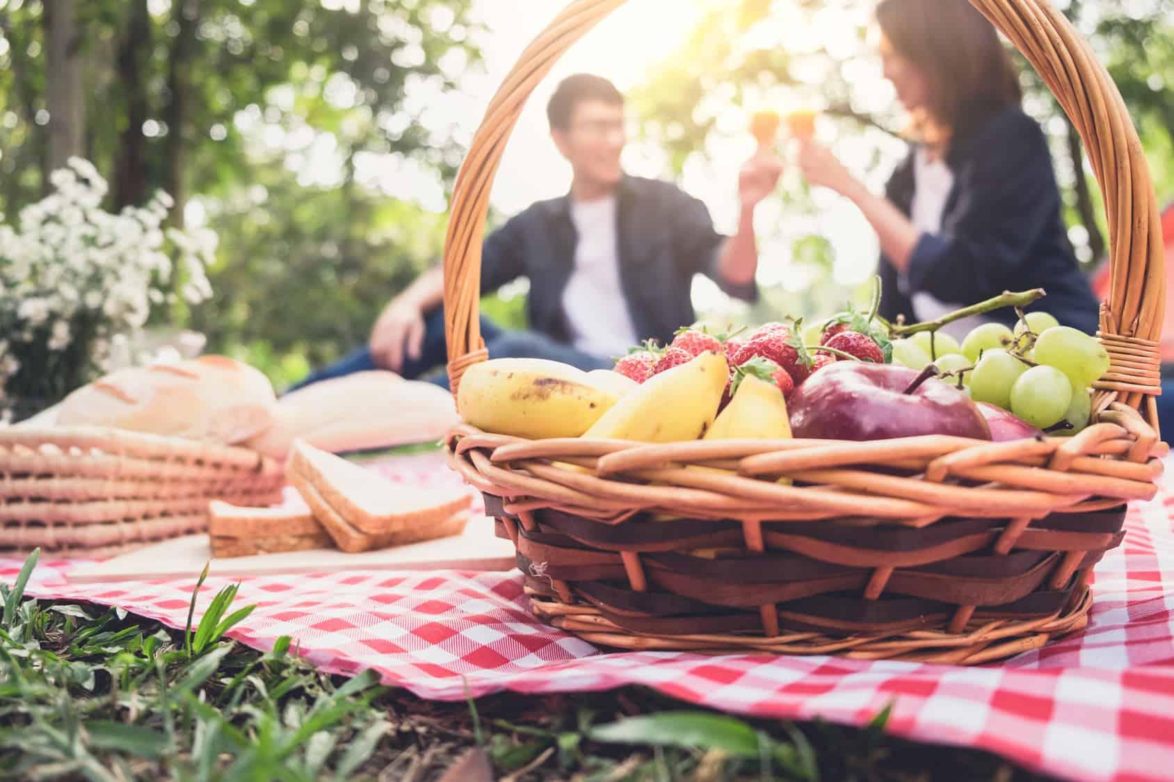 Pareja en picnic
