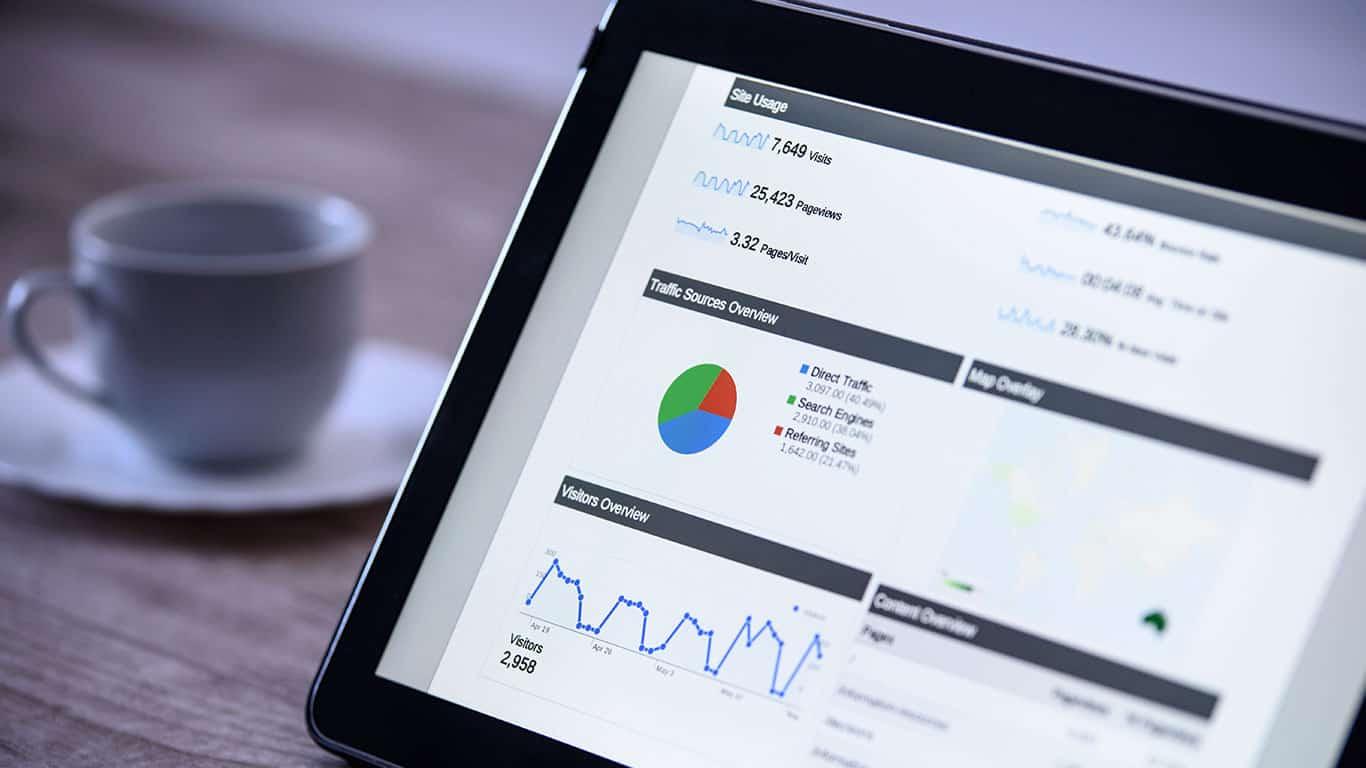 Modern digital marketing on the tablet in vintage style