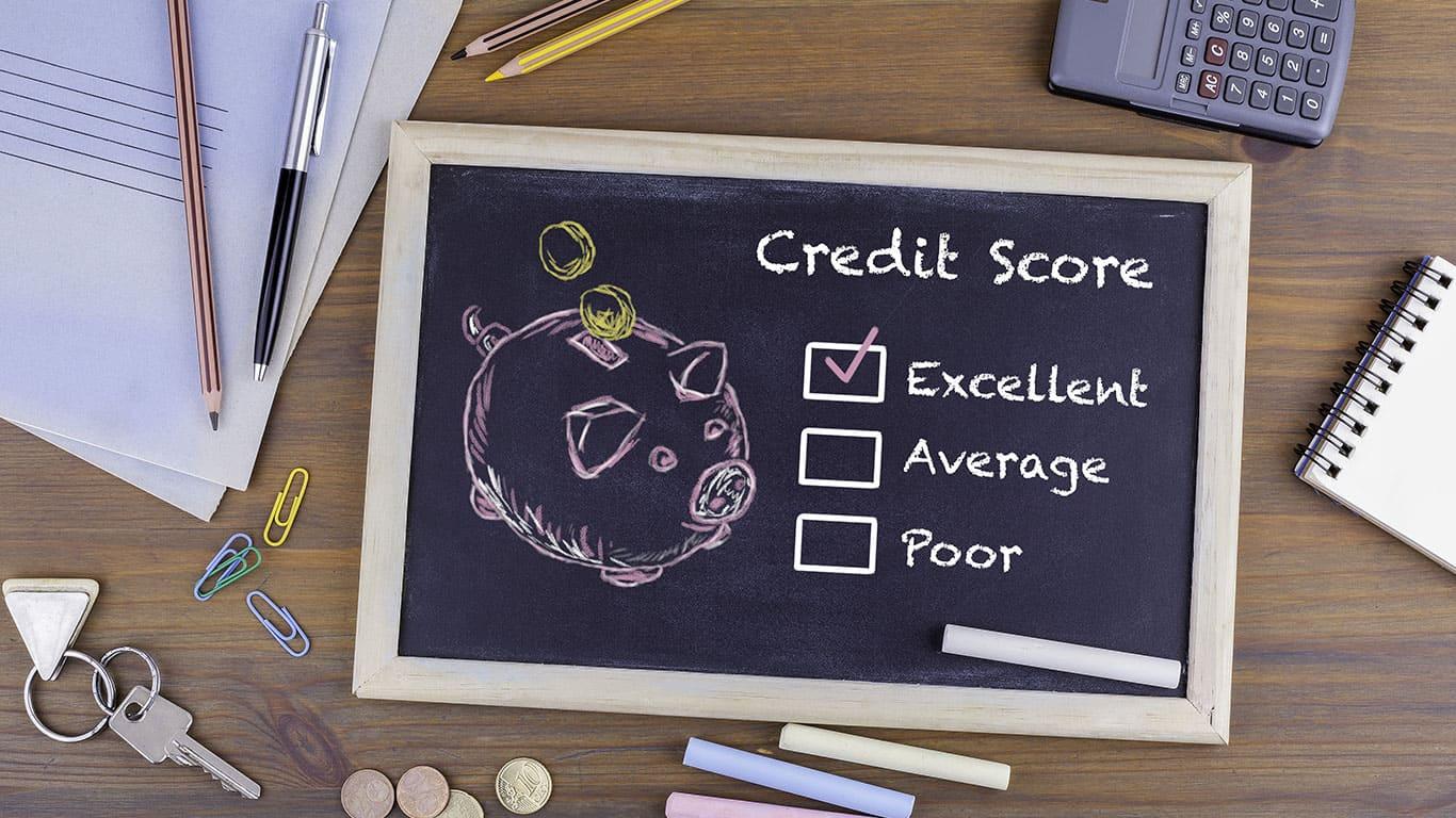 Excellent Credit Score concept