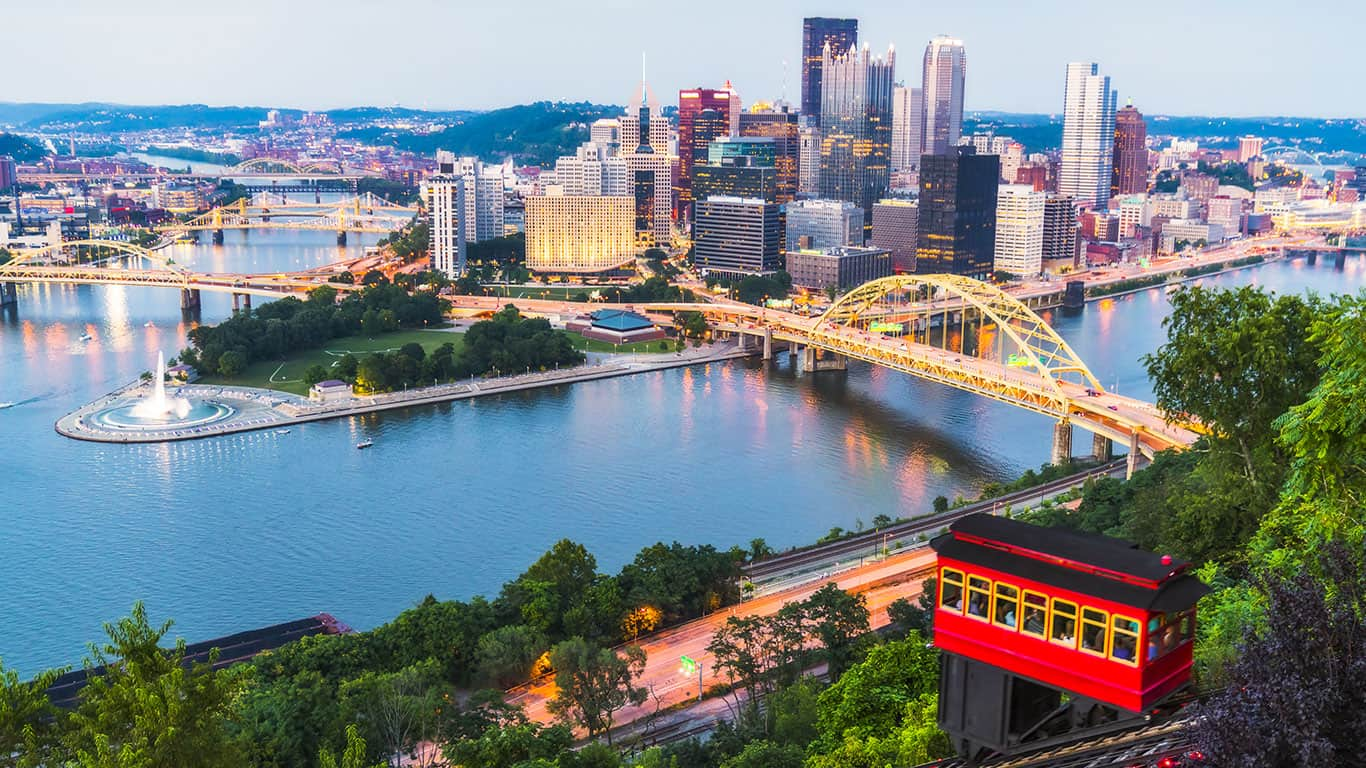 Beautiful Pittsburgh at twilight