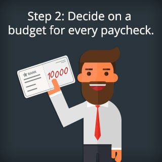 Step 2: Decide on a budget for every paycheck.