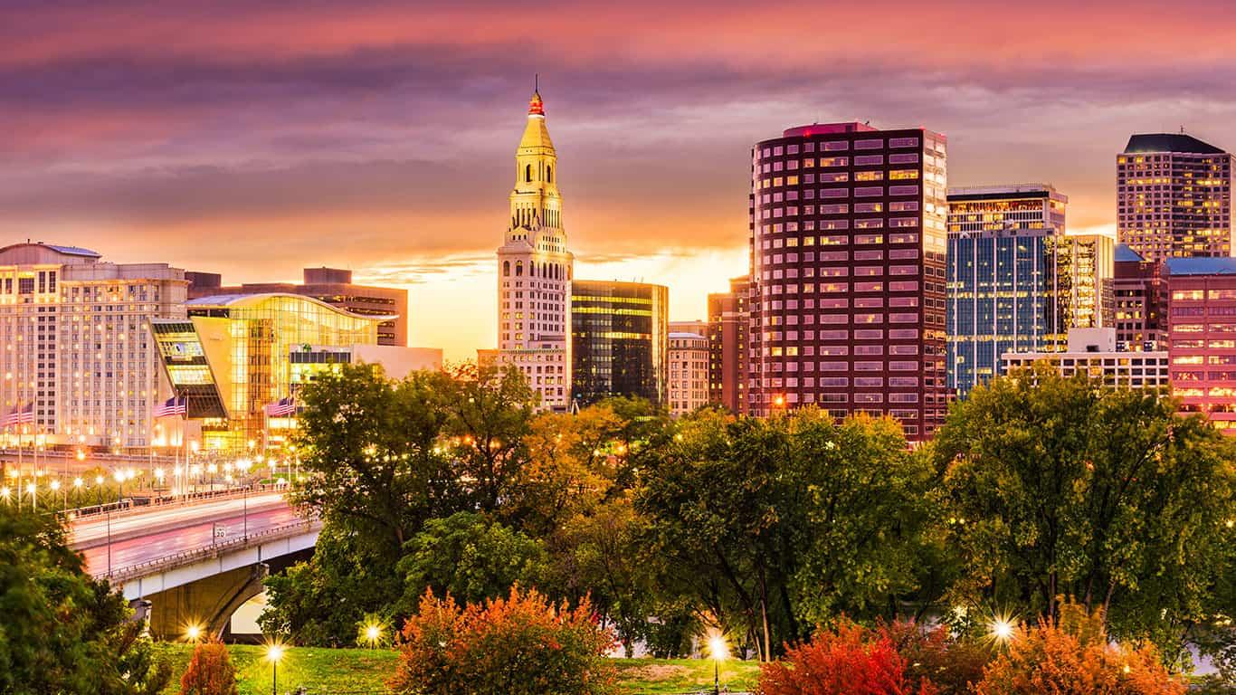Hartford, Connecticut, USA downtown skyline