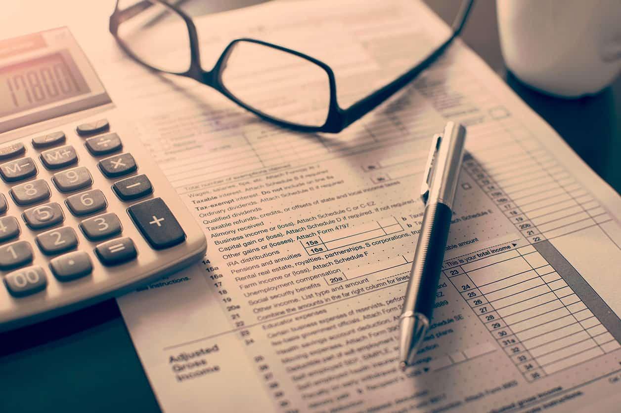 Individual income tax return form
