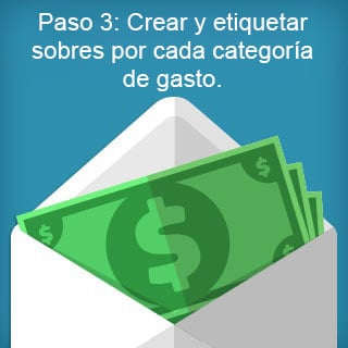 Step 3: Create and label envelopes by spending category.