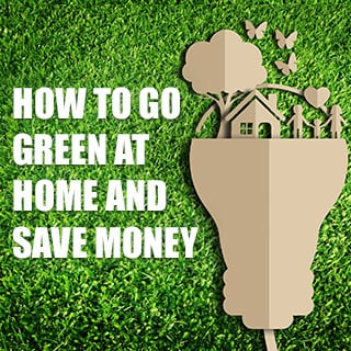 How to go green and save money at home