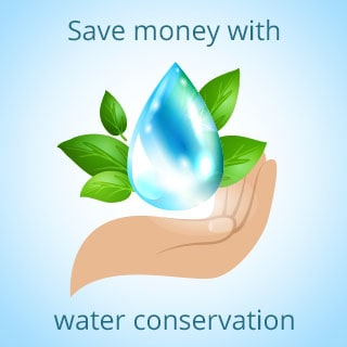 Save money with water conservation