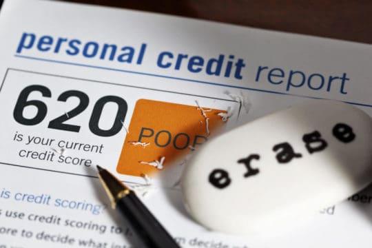 puntaje de crédito malo 600s