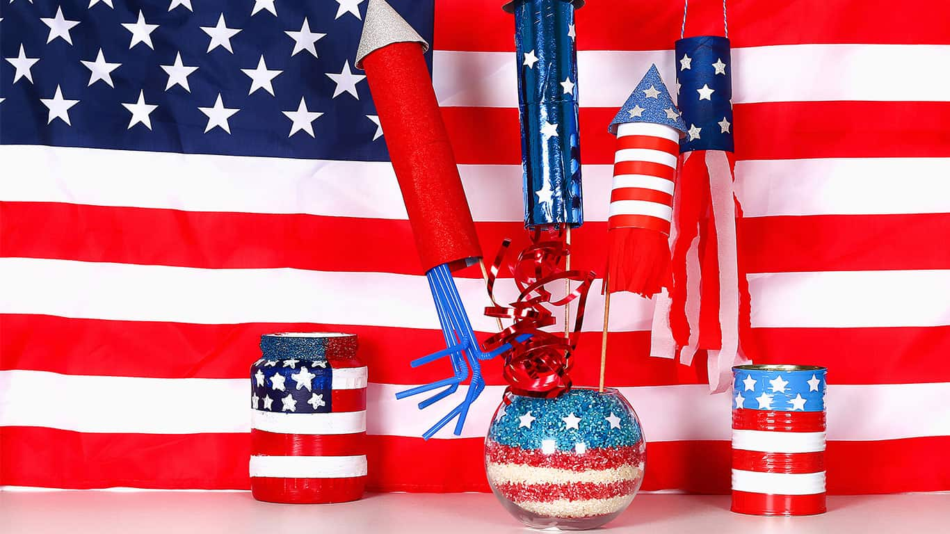Gift idea, decor July 4, USA Independence Day. Patriotic holiday