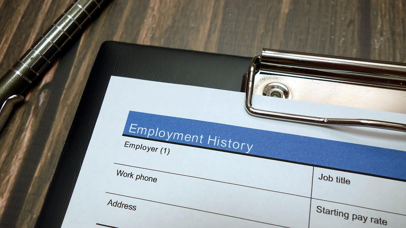 Establish a residence and employment history