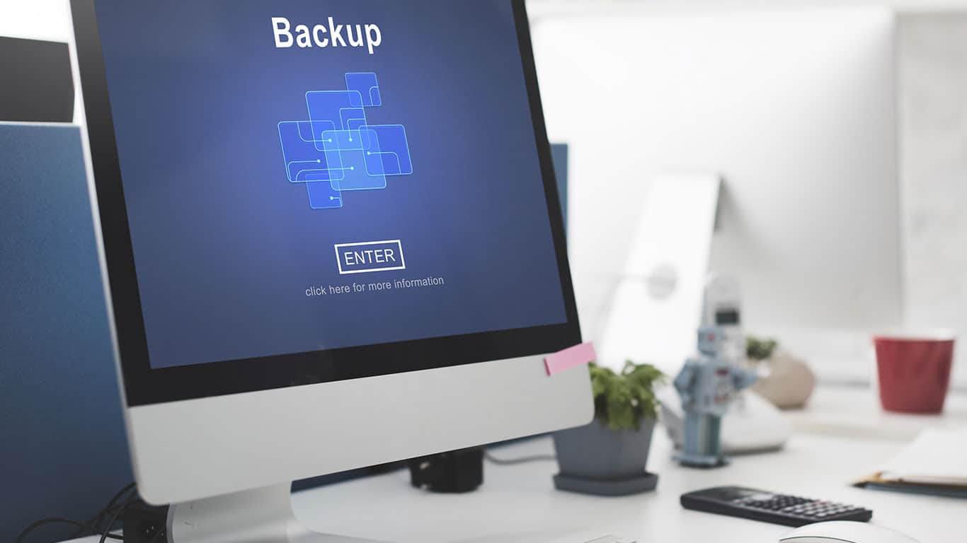 Backup Data Storage Database Restore Safety Security Concept