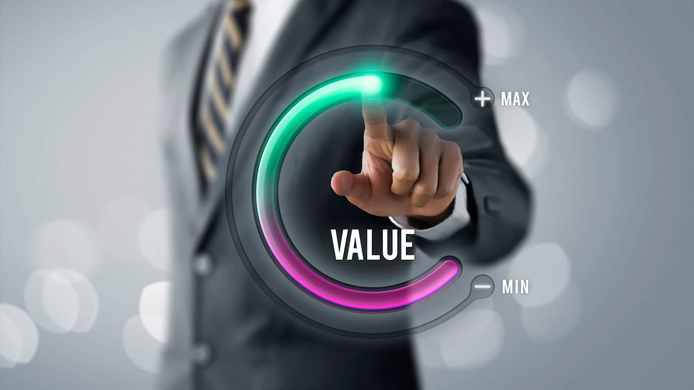 Growth value, increase value, value added or business growth concept.