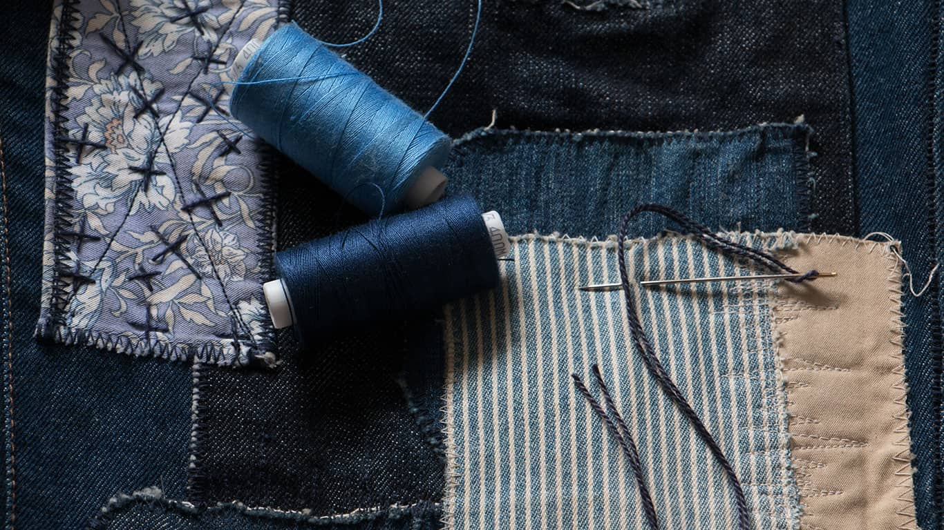 Repair your favorite jeans re-use to see cool