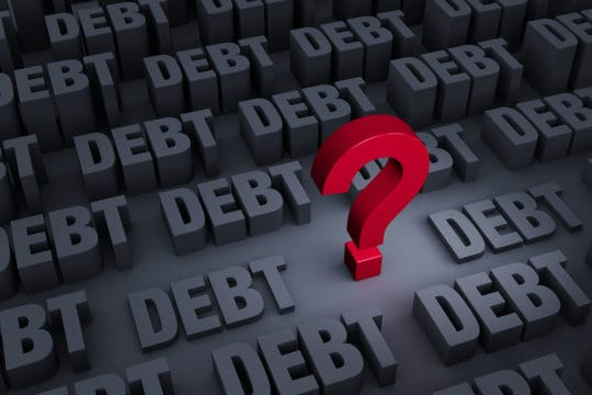 Debt with question mark
