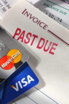debt consolidation program; credit cards and past due bills
