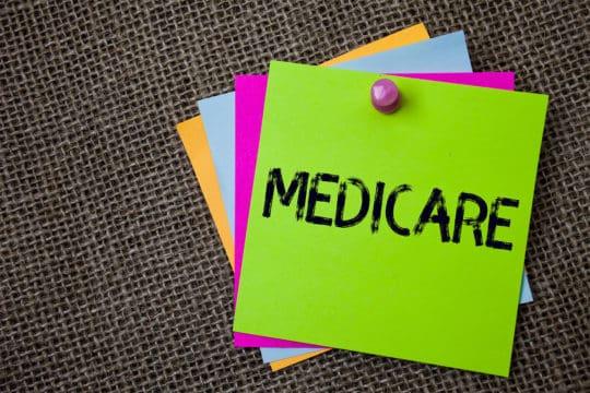 Handwriting text writing Medicare